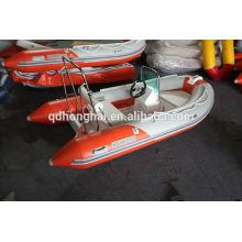 barco inflável de fibra de vidro de China para a pesca