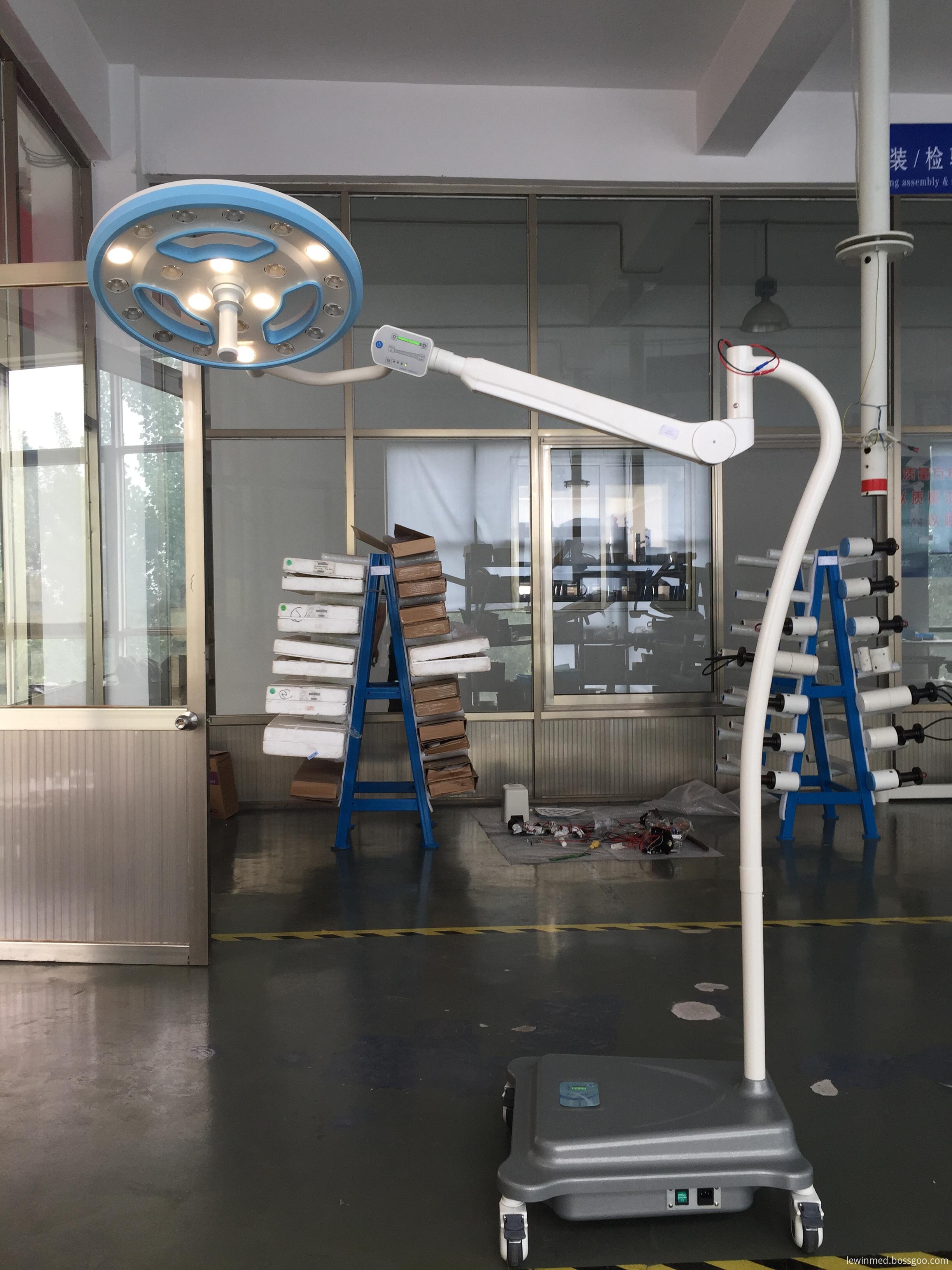 Floor type mobile lamp