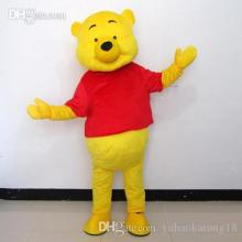 New Hand Made Winnie The Pooh Mascot Costume Adult Size Cartoon Mascot Animal Apparel Adult Size