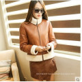 New Designs Short Style Shearling Leather Coat for Women Wholesell