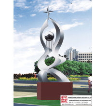 School Stainless Steel Sculpture