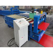 Warna Baja Tipis Piring Hydraulic Roofing Corrugated Sheet Forming Machine
