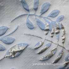 Light Blue Brocade Jacquard Textile Fabric