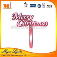 Cartas de Navidad Selecciones decorativas de plástico para pastel
