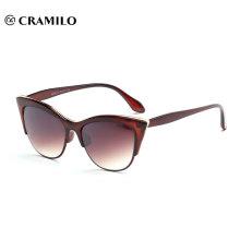 горячая распродажа половина оправы кошачий глаз бренд солнцезащитные очки