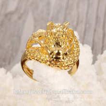 Heißer Verkauf moderner antiker kupferner Goldüberzughochzeitsringfrauen Ring