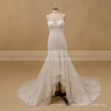 Muster Hochzeit Mutter Kleid Indonesien High-Low-Hochzeitskleid
