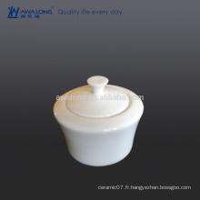 Plats pure de café blanc, sucrerie, os, porcelaine, café, hôtel