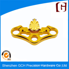 OEM precisão usinada parte com chapeamento de cobre por CNC