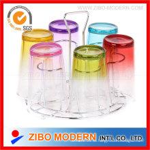 Venta al por mayor hermoso vidrio coloreado Set