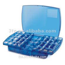 Caja de herramientas óptica de plástico Push-Pull para accesorios de gafas