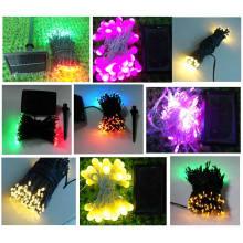 Cadena de luz solar LED de 100 piezas con control táctil
