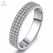 Indonesien Freundin Hahn Gelbgold Diamant Ehering, Stretch-Band 925 Silber Diamant-Schmuck Ehering