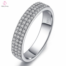 Indonesia Girlfriend Cock Yellow Gold Diamond Wedding Ring, Stretch Band 925 Silver Diamond Jewelry Wedding Ring