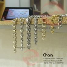 Sac à main Utilisation de chaînes en fer et en laiton de couleur or et argent de couleur noire