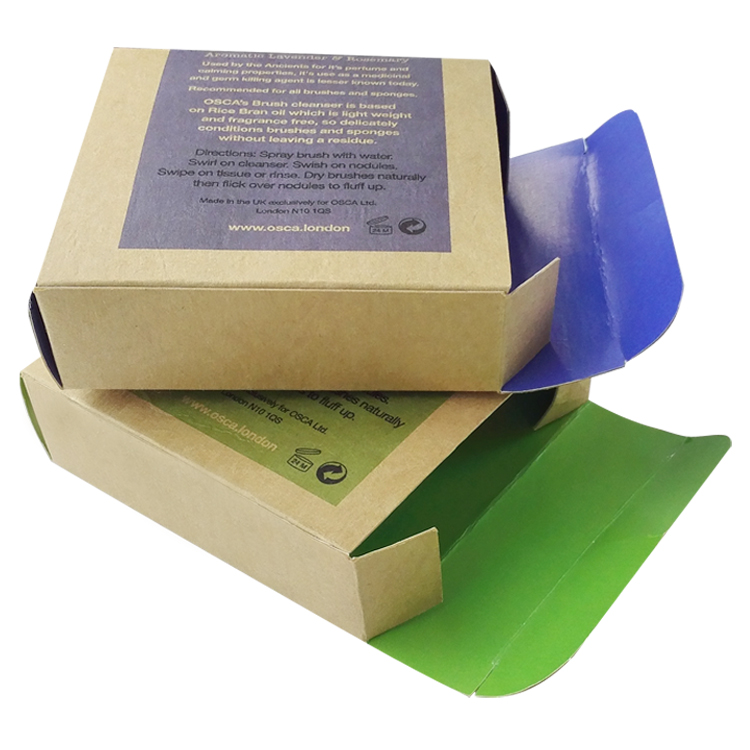 Wholesale Custom Made Soap Packaging Kraft Paper Box