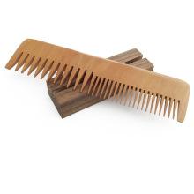 FQ marca viaje largo manejar dientes finos y anchos hombres barba peine