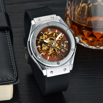 Fashionable Stylish Automatic Mechanical Silicone Watches