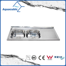Above Counter Stainless Steel Moduled Kitchen Sink (ACS-12050DA)