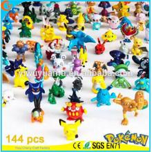 Alta qualidade Moda encantadora Popular brinquedo Pokémon Desenhos animados Vários cor Objetos relvados 144 Designs Mini Pokémon Go Pokeball
