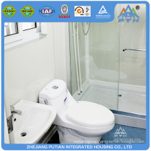 Small high quality steel frame living container house with shower toilet
