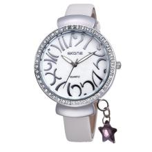 Skone fashion quartz watch ladies fashion watch leather belt watch