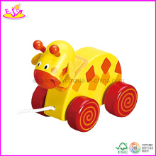 Wooden Baby Animal Pull Car (W05B040)