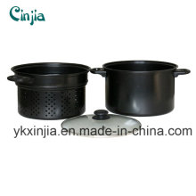 Kitchenware 26cm Deep Carbon Steel Pasta Pot with Non-Stick Coating