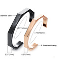 Fashion C style couple stainless steel bracelets