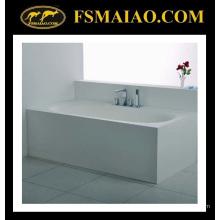 Baignoire autoportante de surface solide blanche de rectangle de taille confortable (BS-8620)