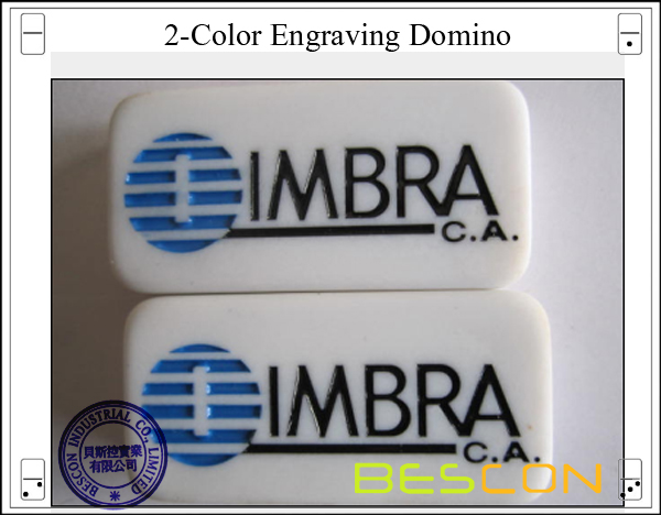 2-Color Engraving Domino