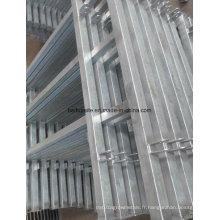 Barrières de sécurité en aluminium de barrière de fer de clôture de matériel de ferme
