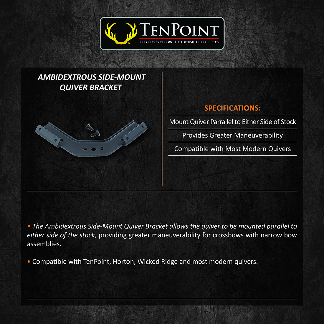 TenPoint_Ambidextrous_Side_Mount_Quiver_Bracket_Product_Description