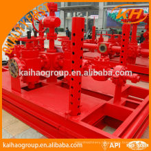 API well control choke manifold for oilfield equipment