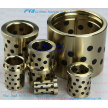 Oiles 500SP4 Brass Bushing,ASTM-standard-based Alloy,Solid Lubricants Bearing plugged Graphite