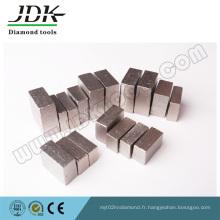 Segments de diamant de type rainuré pour couper le granit de l'Inde