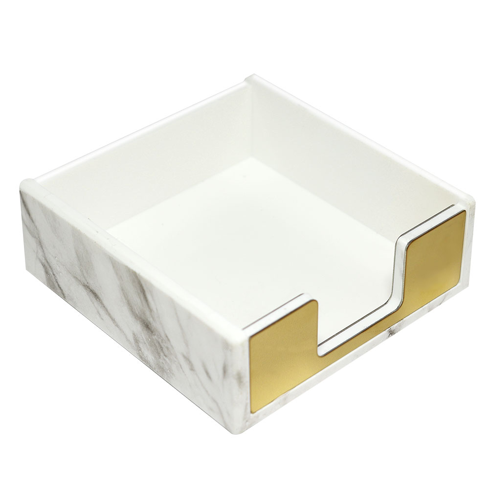 Acrylic Memo Holder With Gold And Marble