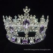 wholesale rhinestone tiara full round large pageant crown