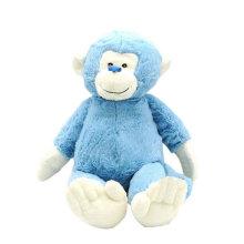 Animales de juguete suave Peluche de peluche de mono azul