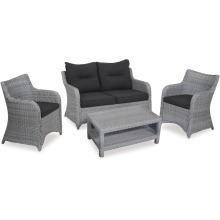 Muebles al aire libre de mimbre de la rota salón sofá conjunto jardín