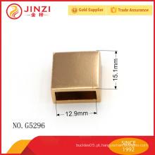 Extremidade brilhante do zipper do ouro, extremidade quadrada do zipper feita no metal, ferragem da bolsa de Guangzhou
