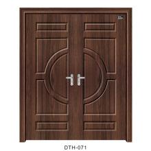 Puerta de PVC Puerta interior de puerta de madera (DTH-071)