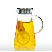 2L Eco-Friendly Borosilicate Glass Pot bouteille d'eau bouteille d'eau
