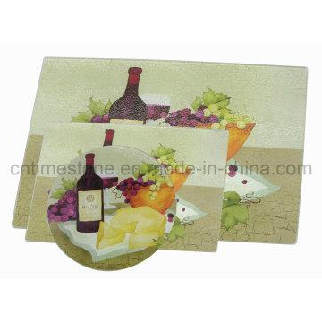 Gehärtetes Glas Schneidebrett (GCB-20121201)