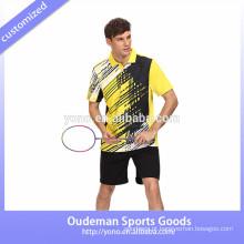 Sublimada equipe personalizada roupas de badminton, unisex esportes jersey quick dry tennis badminton desgaste jersey