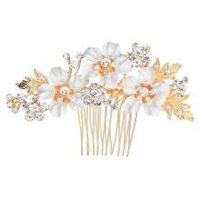 Alloy Crystal Flower Hair Comb Bun Wedding Bride Luxury Hair Accessories Feast Party Photo Studio Handmade for Women Girl CN;ZHE