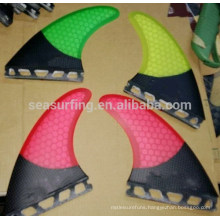 high quality colorful honeycomb fiberglass surfboard fins