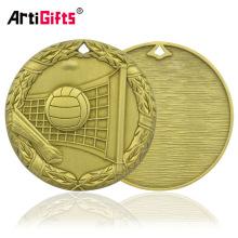 Медальон Компанию Гравированные Бронзовые Медали По Волейболу Медали И Награды