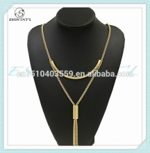 2015 Custom Design Long Gold Chain Necklace, Chain Fahion Jewelry, Chain Body Jewelry