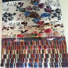Фабрика цифровой Custom напечатаны бархат ткань обивки мебели